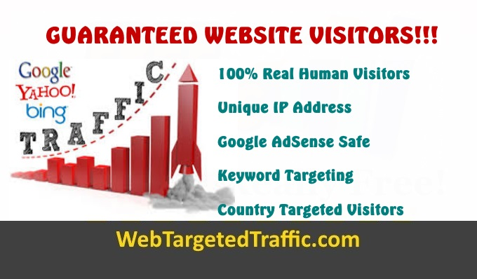 GUARANTEED WEBSITE VISITORS!!! High Quality Traffic That Converts…