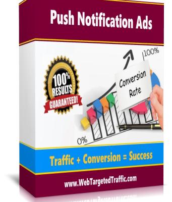 High Quality Push Notification Ads Traffic